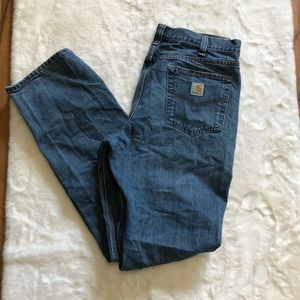 Carhartt relax fit medium wash jeans size 36x34